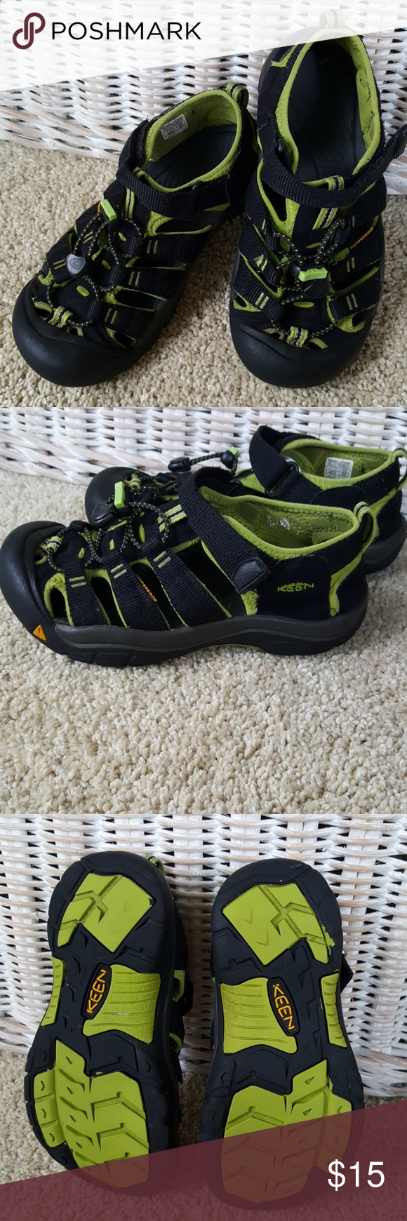 Keen Waterproof Sandals Size 3/4 A lot of wear left in these boys Keen sandals. Size tag is missing but are approximately a Boys 3-4. Great for summer. From a smoke-free home. Keen Shoes Sandals & Flip Flops