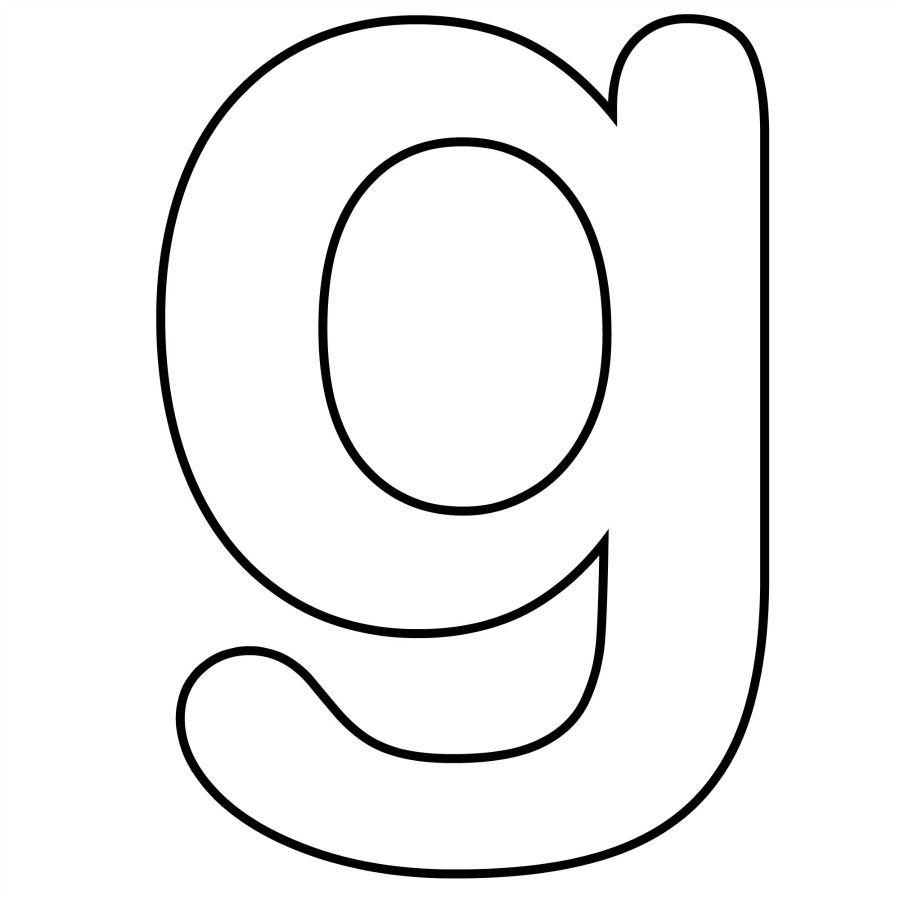 coloring pages alphabet g lowercase free abc crafts pinterest