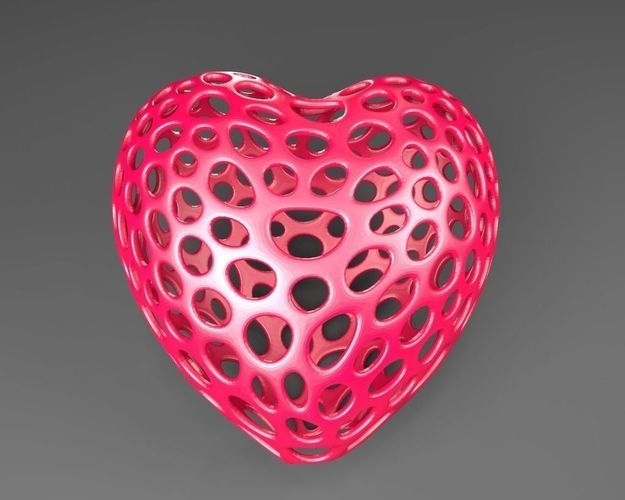 Heart - Voronoi Style – free 3D model ready for 3D Printing ...