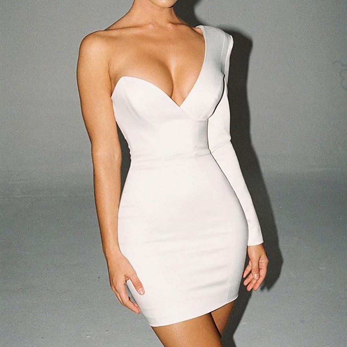 New Women/'s Stylish Sleeveless V Neck Solid Color Bodycon Club Short Dress Party