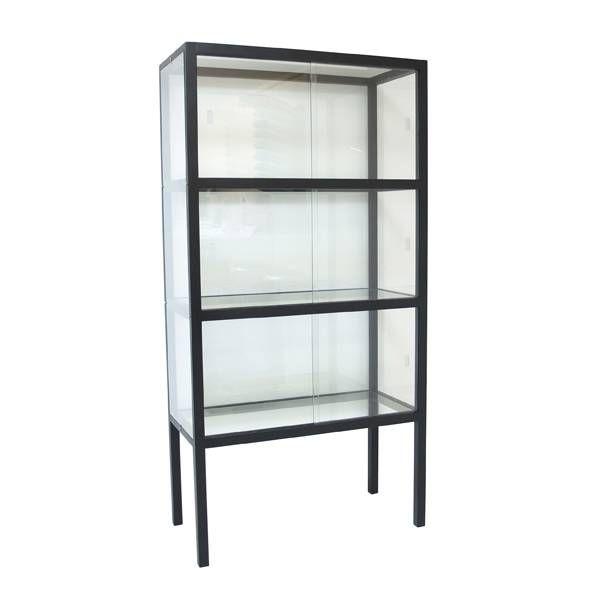 Plank Voor Lijstjes.Hk Living Vitrinekast Hout Glas Livingroom Glasvitrine