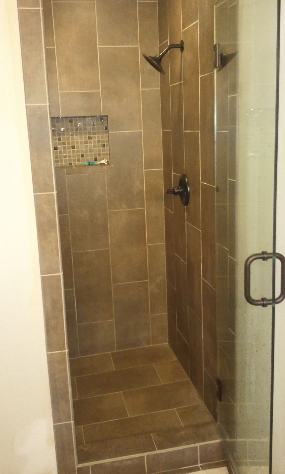 Elegant Bathroom Tile Shower Walls And Glass Door With Modern Showers Small  Bathrooms Also Shower Head,