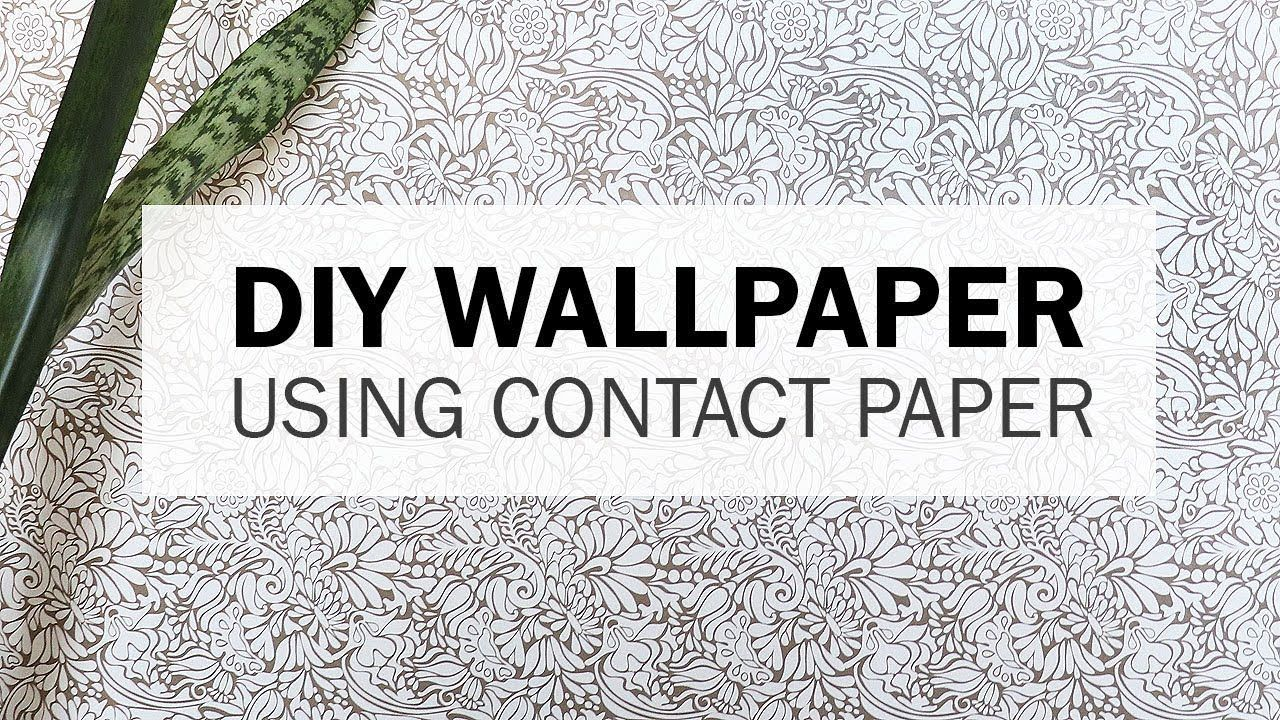 How To Apply Wallpaper Using Contact Paper Contact Paper How To Apply Wallpaper How To Apply