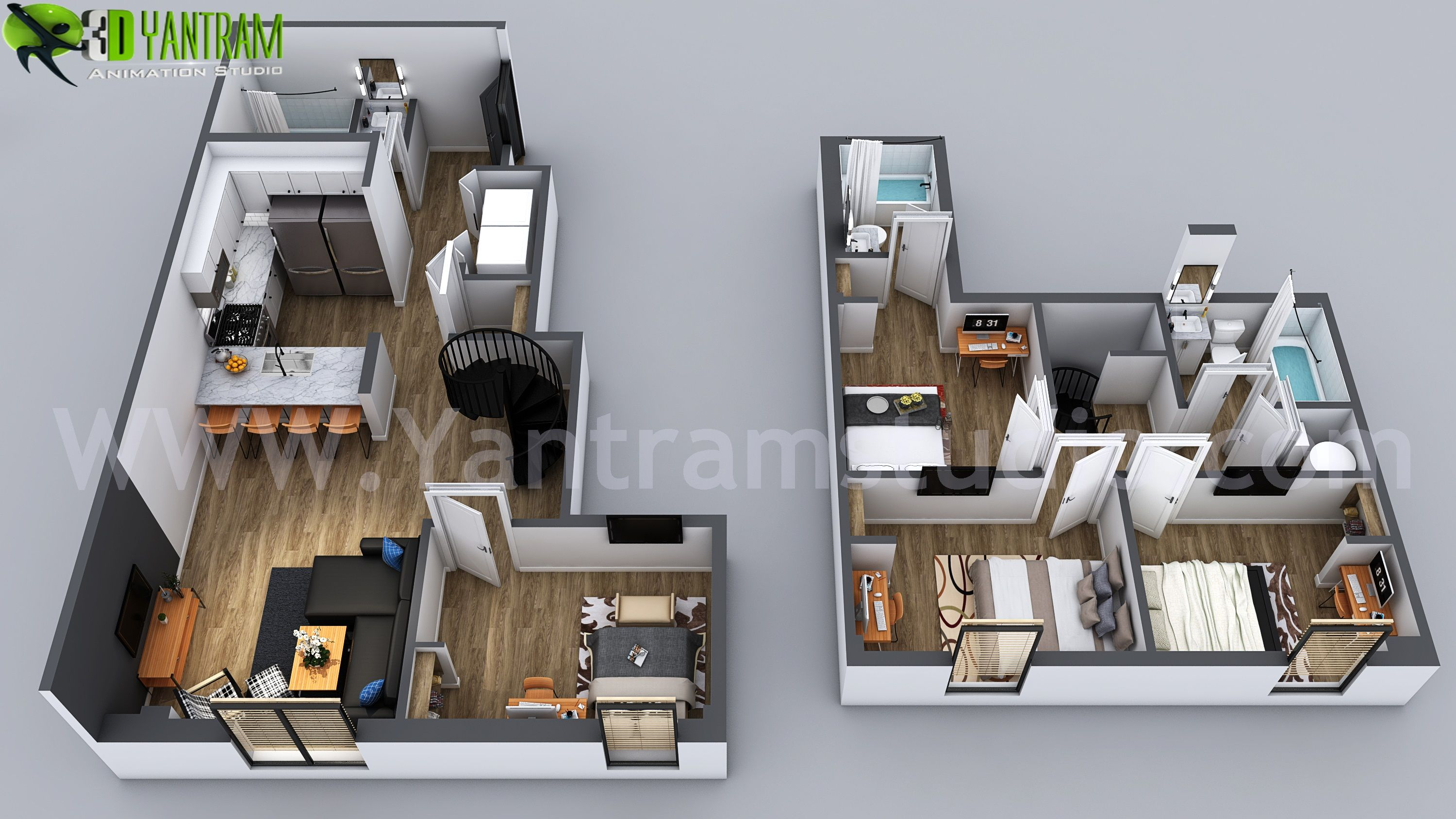 3d Home Floor Plan Designs By Yantram Floor Plan Designer Washington Usa Flooring Floorpl Architectural Design Studio Floor Plan Design House Floor Plans