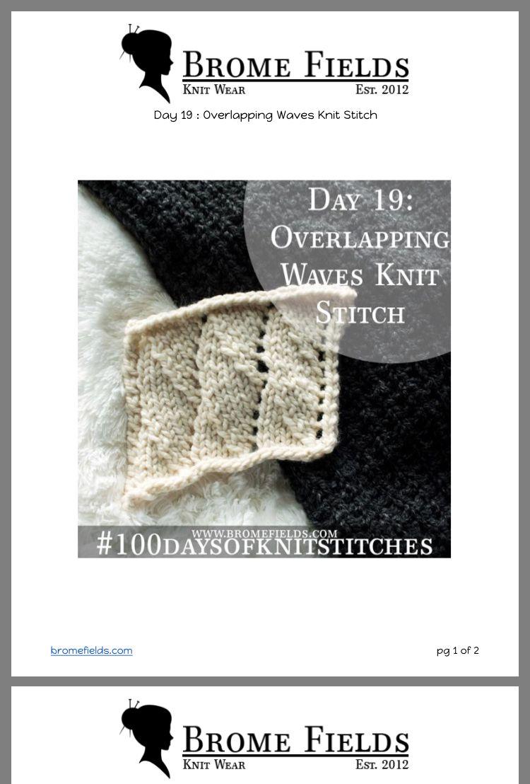 e823da498bd022 Overlapping Waves Knitting Stitches