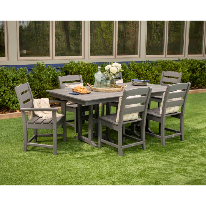 Farmhouse 37 X 72 Dining Table Farmhouse Dining Set Polywood Outdoor Furniture Side Chairs Dining