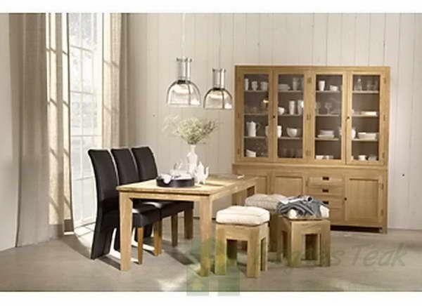 Indoor Teak Dining Furniture | Decorating with Natural Elements ...