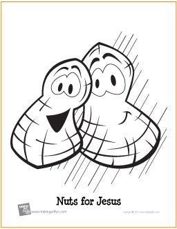 Nuts For Jesus Free Printable Coloring Page Makingartfun Com