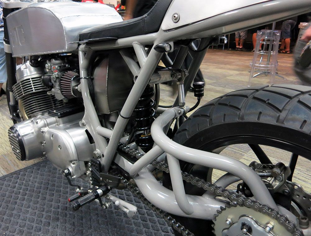 Which motorcycles have single sided swinging arm 12