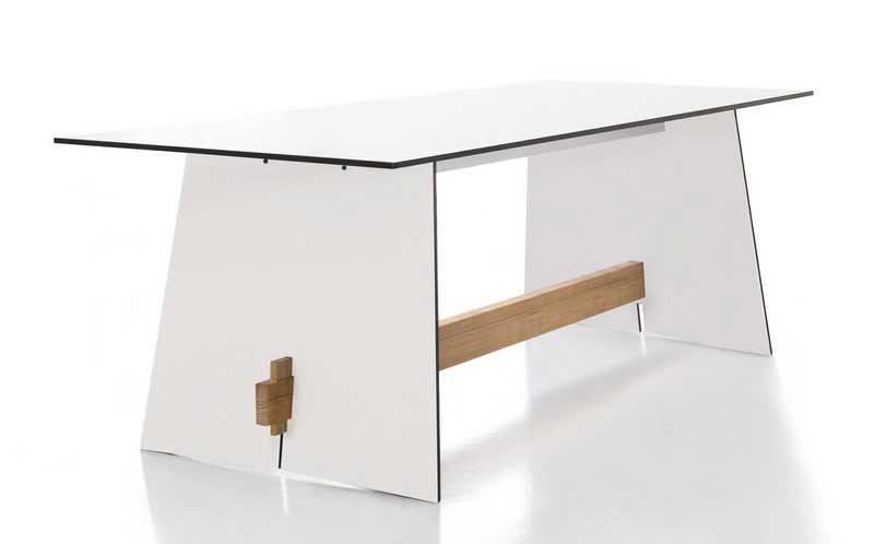 conmoto Tisch Tension Weiß/Schwarze Kante (HPL) kaufen im borono