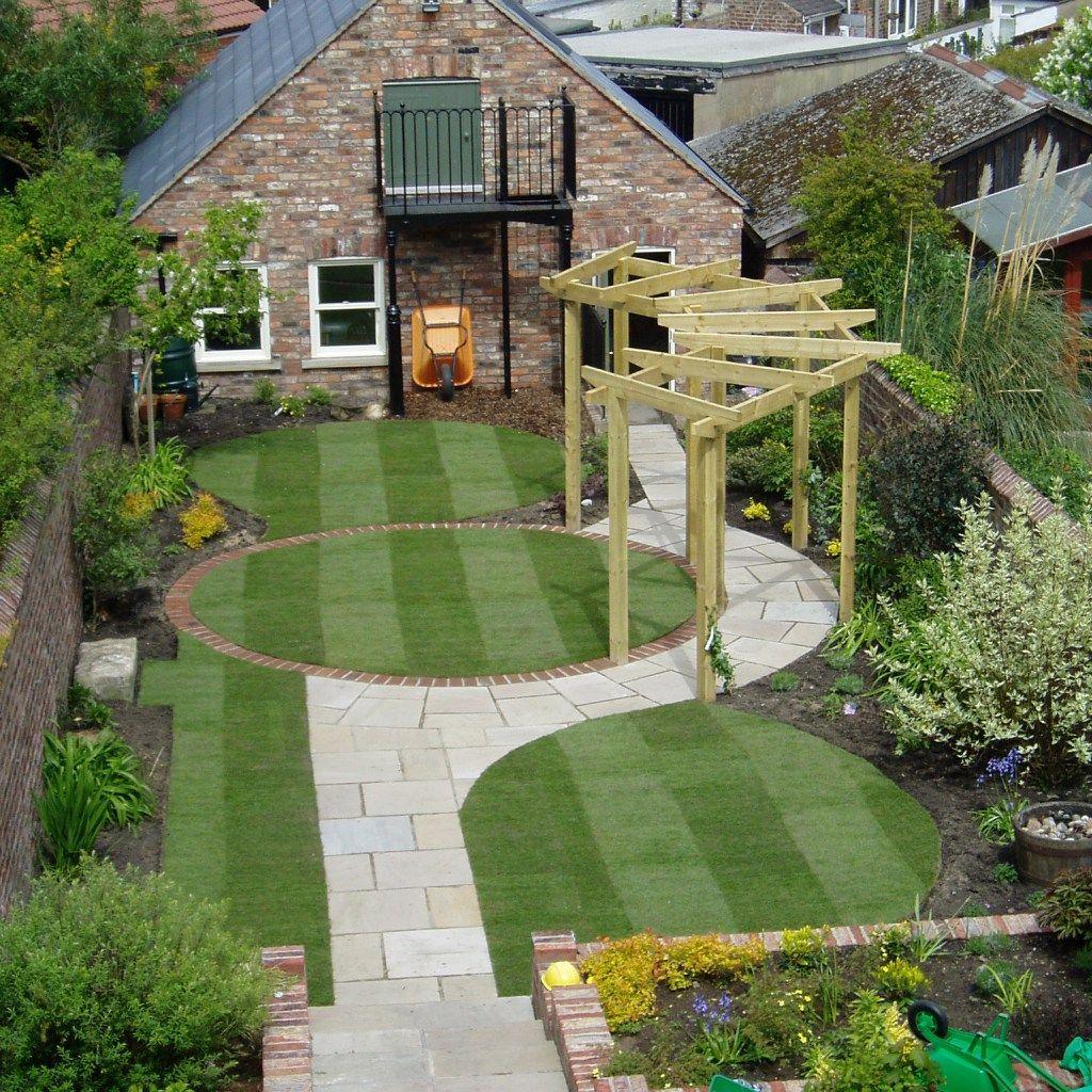 garden design circles and curves from ward log home regarding