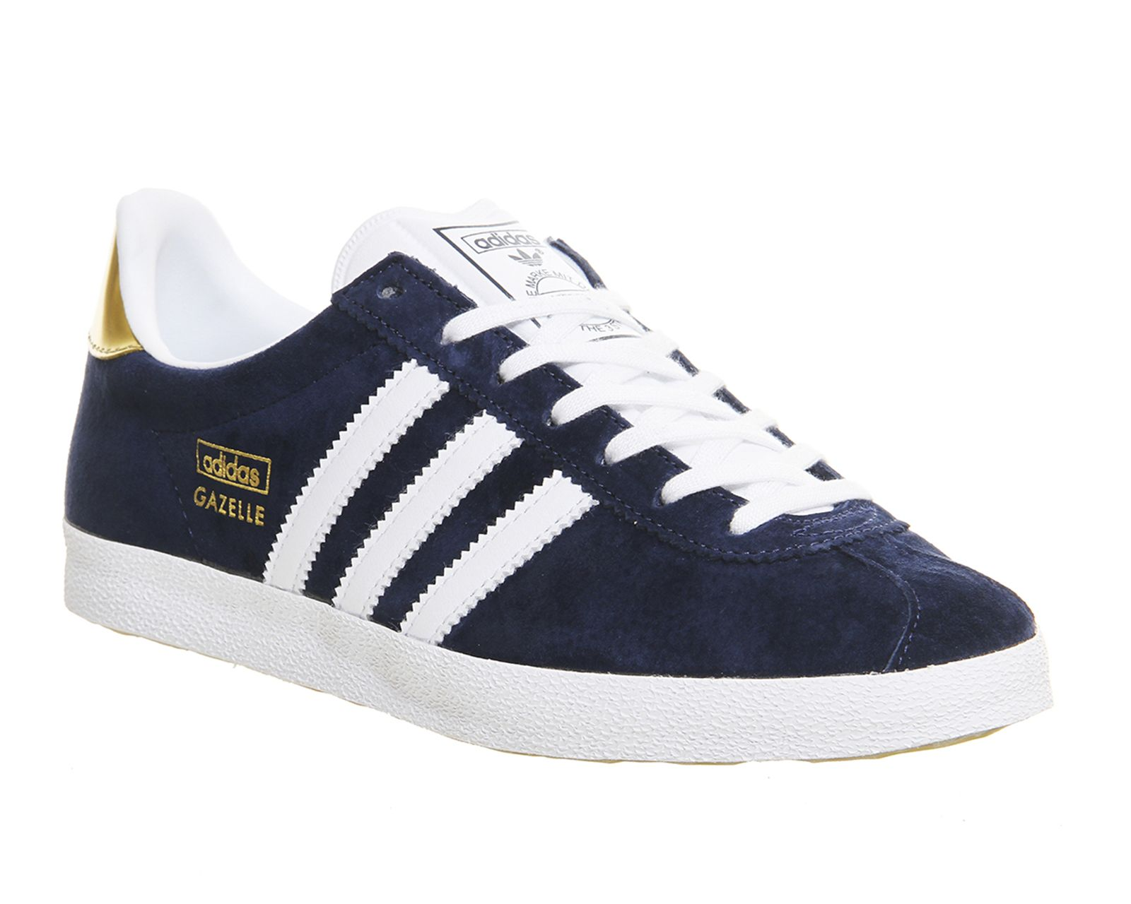 Adidas Gazelle Og Trainers Night Indigo White Metallic Gold - junior