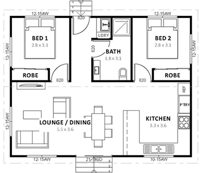 2 Bedroom Granny Flat Packages Small Bedroom Remodel House Remodeling Plans Master Bedroom Remodel