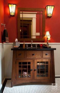 Powder Room Mission Style Design Pictures Remodel Decor And