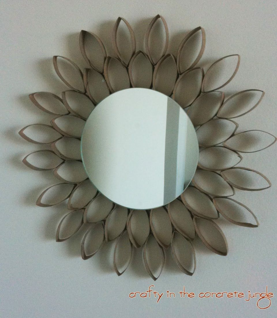 Cool things made from toilet paper rolls flower mirror craft crafty in the concrete jungle diy starburst flower mirror find this pin and more on crafts by debbiep54 tp roll jeuxipadfo Images