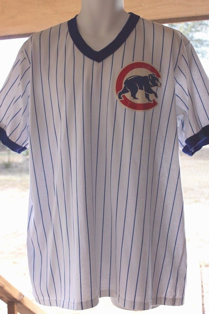 10f4b403 Vintage Chicago Cubs Majestic White Pinstripe Baseball Jersey Shirt Size XL  #Majestic #ChicagoCubs