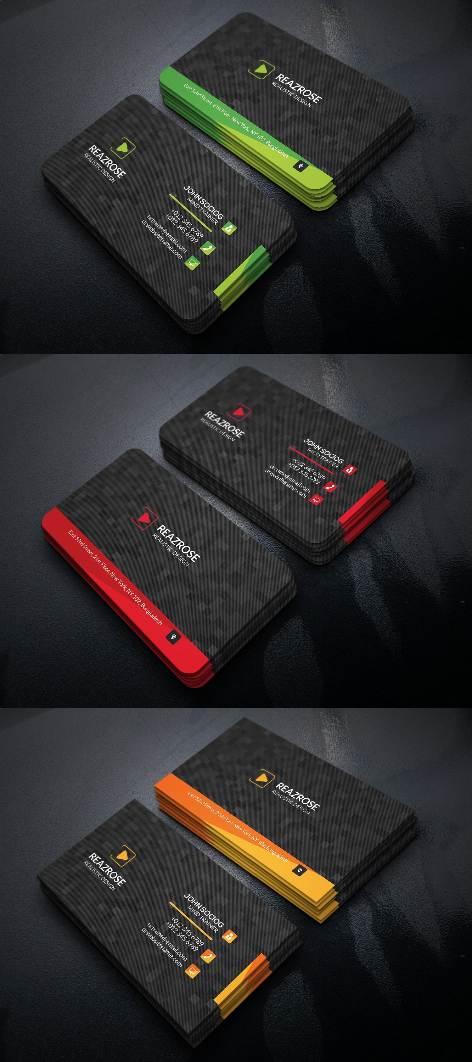 Business card templates psd business card templates pinterest business card templates psd reheart Gallery