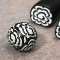 Jelly Roll Crysanthemum cane - nice tute but needs translation. #polymer #clay #tutorial