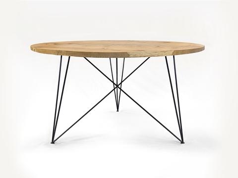 NUTSANDWOODS Oak Steel Table Round - Tisch   ASZTAL TABLE ...