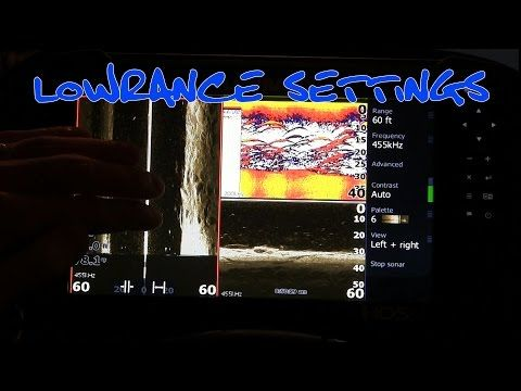 Lowrance HDS Gen 3 Settings Tutorial - YouTube | Graphs & sonars