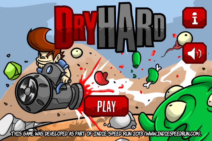 Dry Hard, from #IndieSpeedRun 2013 in Rome! #indiegames #videogames #gamesinitaly