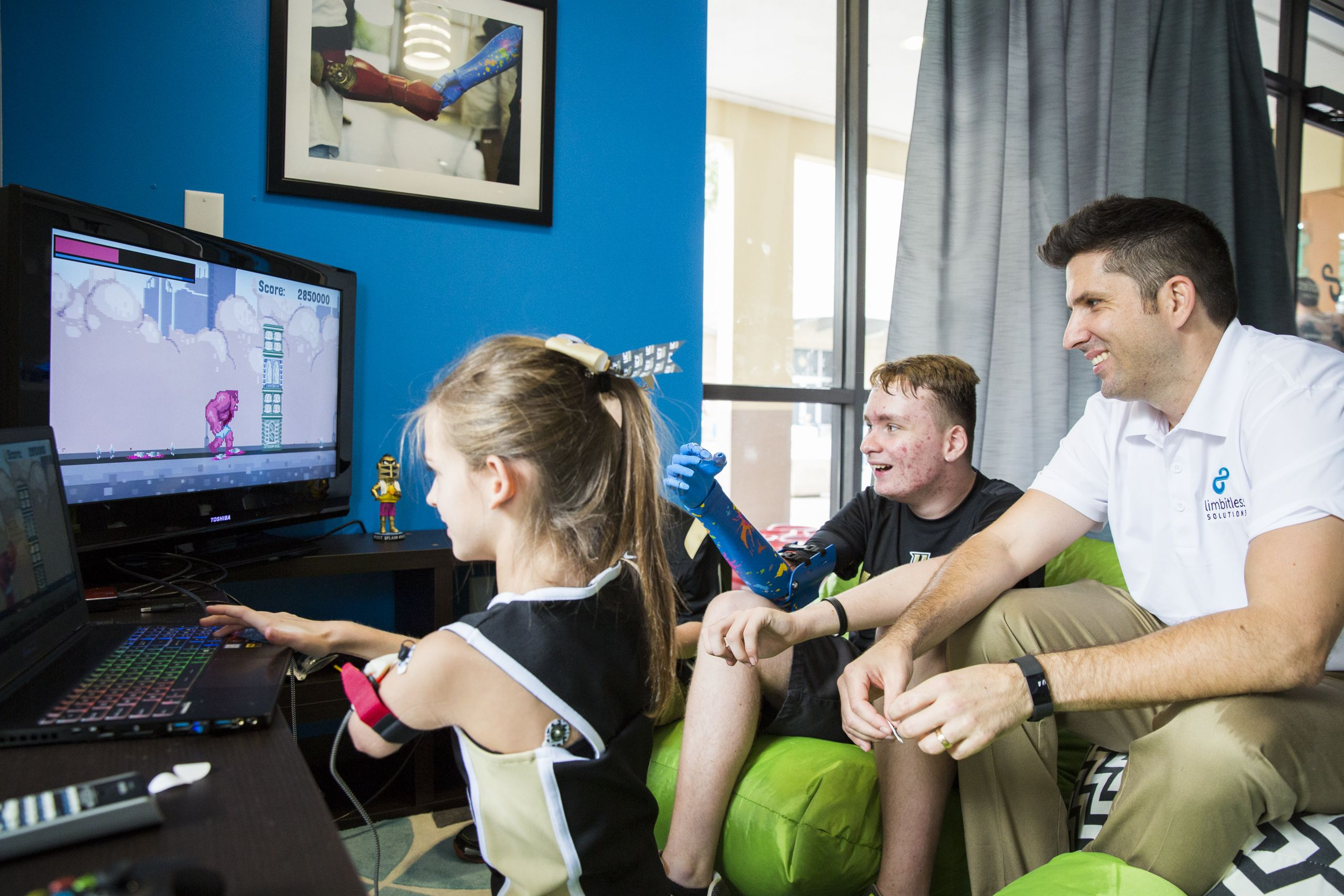 In addition to bionic arms, Limbitless Solutions also