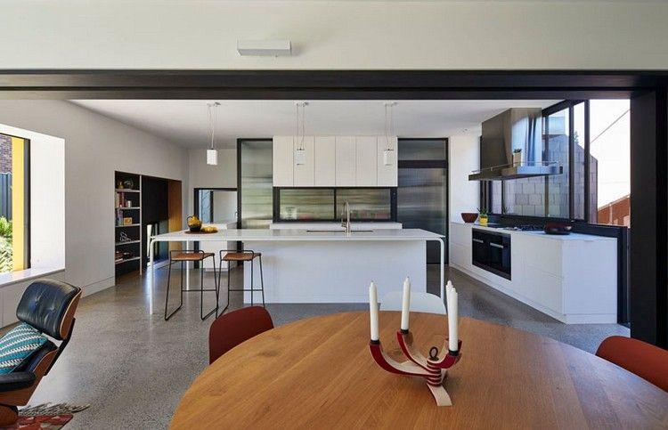 inneneinrichtung-küche-weiß-edelstahl Architektur - Küche (Kitchen - inneneinrichtung