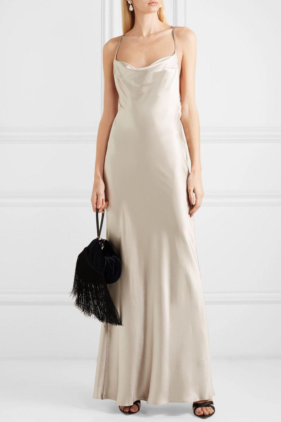 0fec1068 Galvan - Whiteley silk-satin gown in 2019 | I Love Net-a-Porter ...