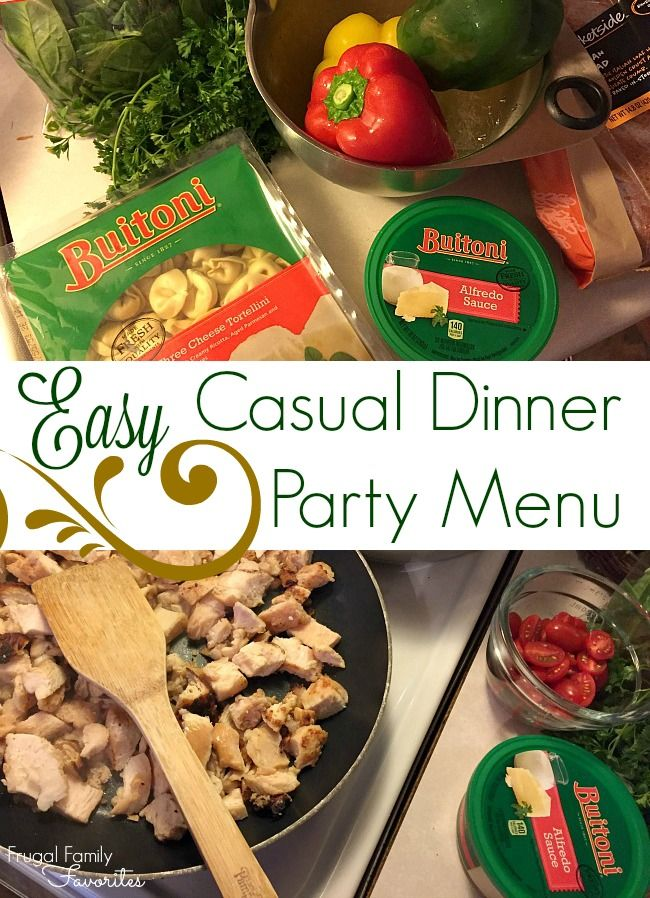 dinner party menu easy