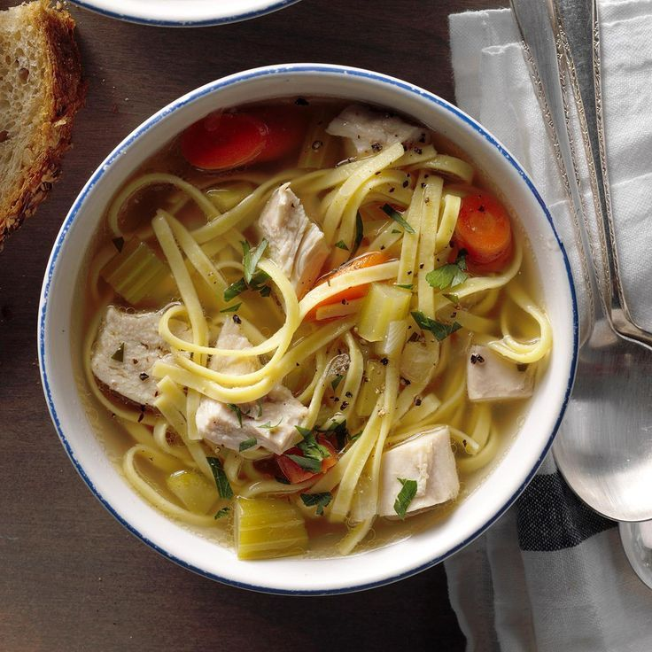 hearty homemade chicken noodle soup  recipe in 2020