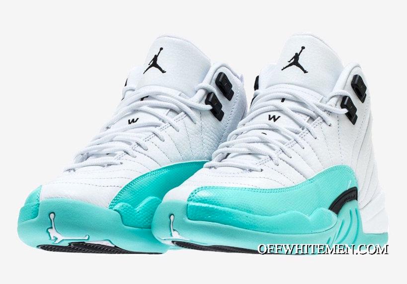 turquoise and white jordan 12