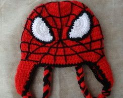 Touca de crochê Homem Aranha  963d7be6eb5