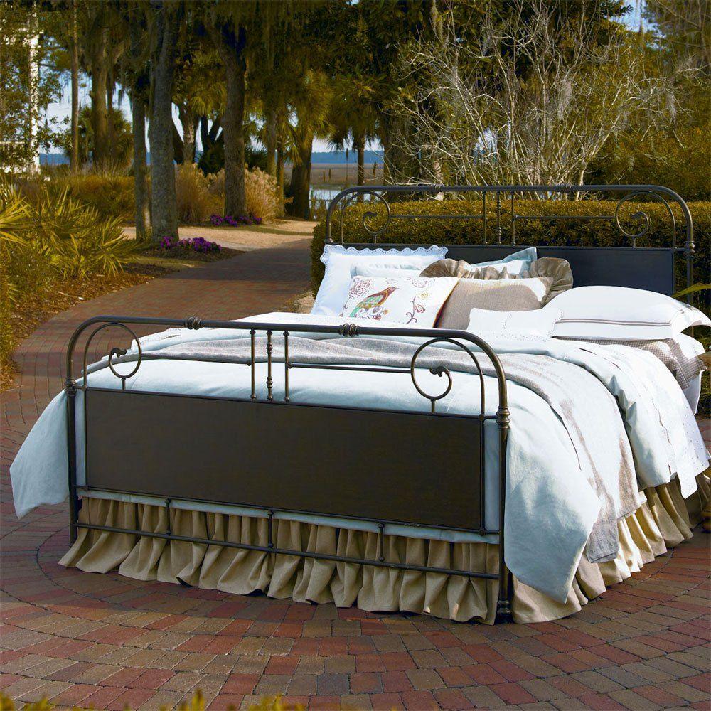 paula deen down home garden gate queen bed in oatmeal uf 192310