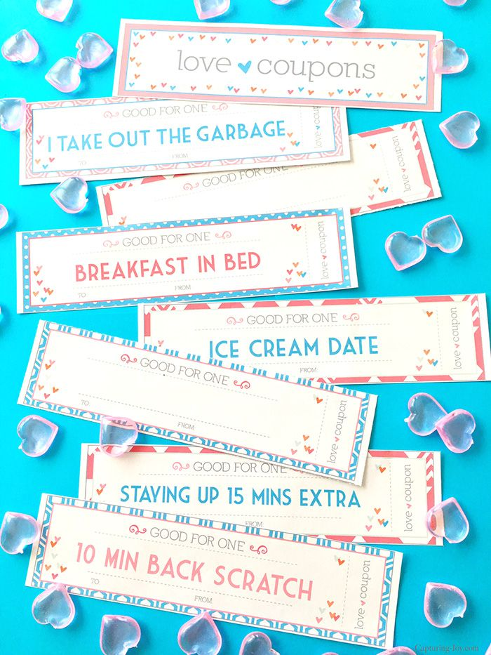 ValentineS Day Coupons For Kids  Printable Valentine Coupons