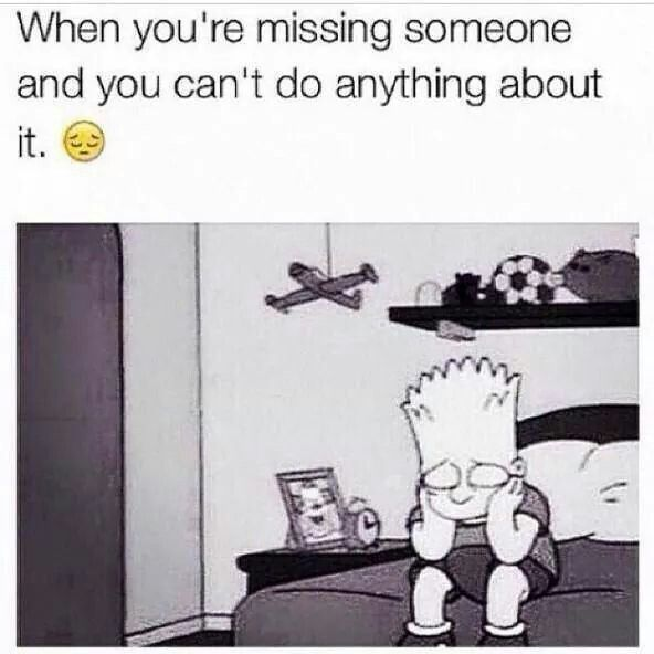 When you are missing someone Cartoon sayings Pinterest