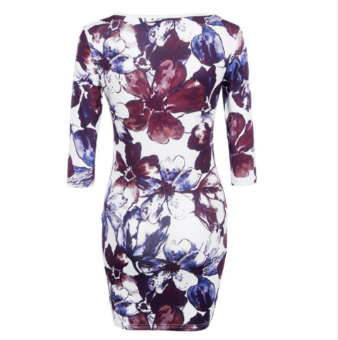 Women Half Sleeve Dress    This Women Half Sleeve Dress  is made of polyester and cotton. Its pattern type is print and the silhouette is sheath. Moreover, its neckline is O-Neck, waistline is natural and the style is casual.    Note: Please allow 2 to 4 weeks for delivery.