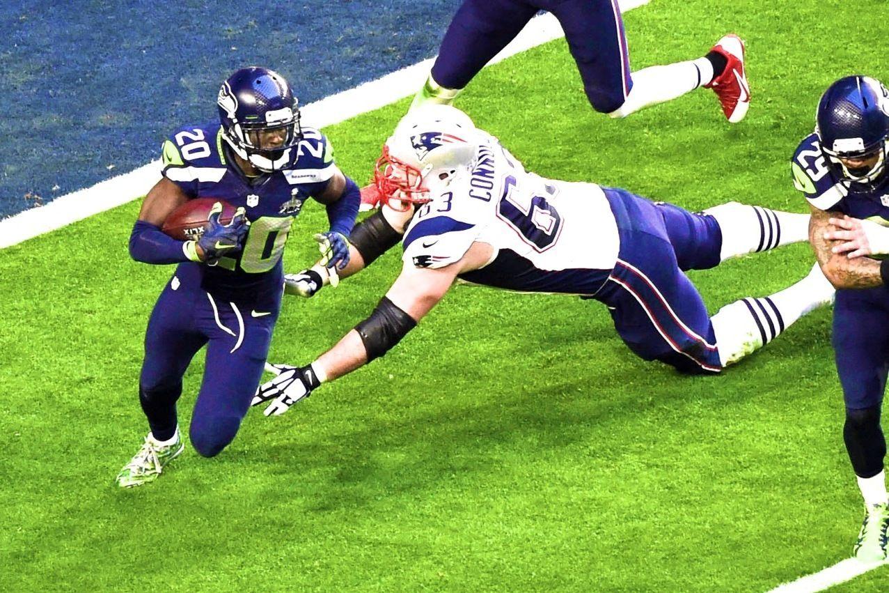 Seahawks Jeremy Lane Intercepts Tom Brady In End Zone In Super Bowl Seahawks Seahawks Team Super Bowl