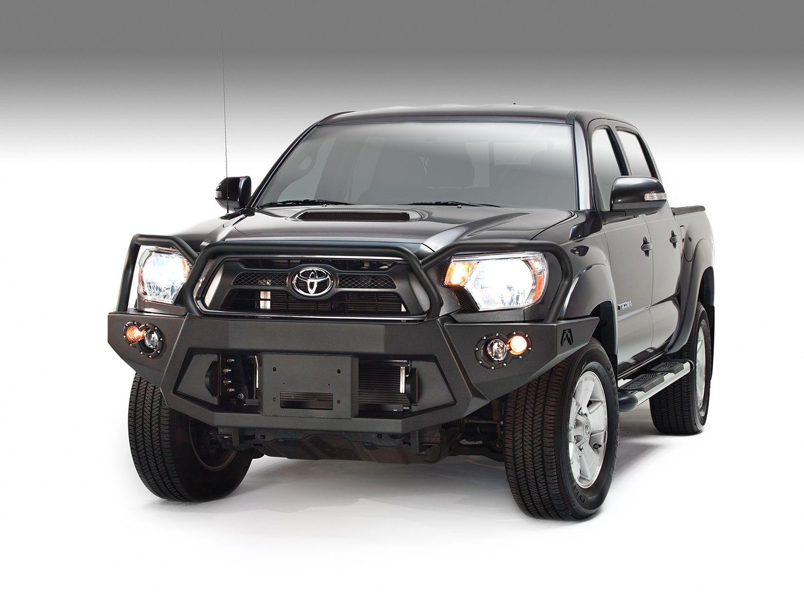 Fab fours 2012 2015 tacoma premium front bumper w full guard