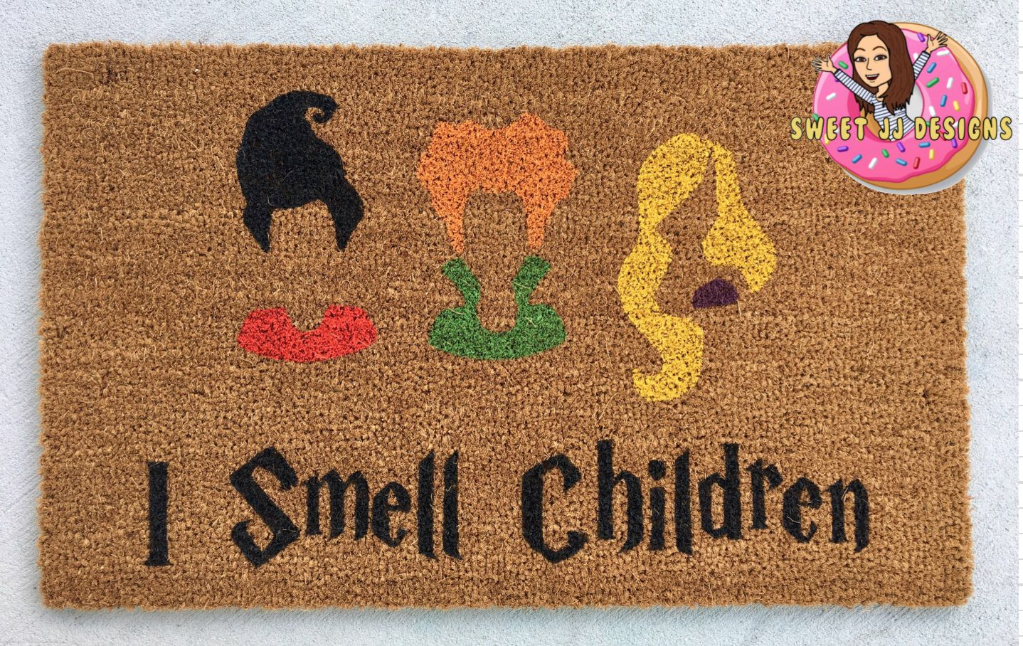 the original hocus pocus doormat, sanderson sisters door mat, i