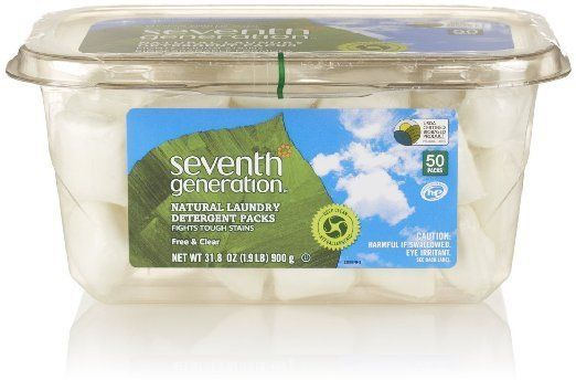 Seventh Generation Natural Laundry Detergent Packs Free And Clear 50ct Seventhgeneration Natural Laundry Detergent Natural Laundry Laundry Detergent