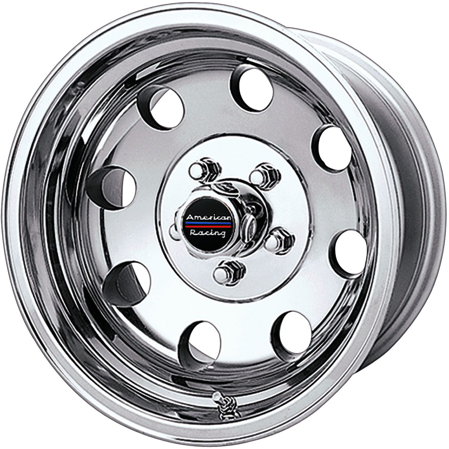 15x8 Wheel with 5 on 4.5 Bolt Pattern Polished Pro Comp 69 Series Vintage
