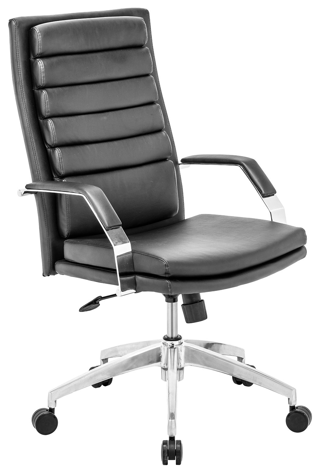 Chrome Finish Director Comfort Home Office Chair, Black