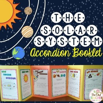 Solar System And Planets Solar System Activity Foldable