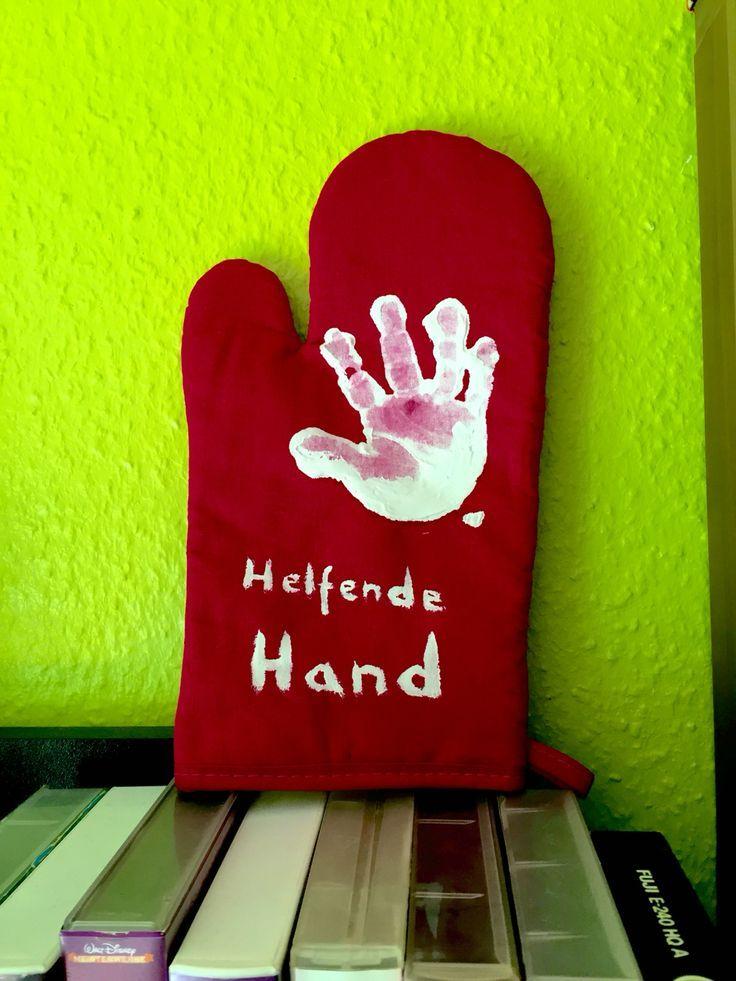 Helfende Hand – Ofenhandschuh – Basteln mit Kindern – Lydie #weihnachtsgeschenkebasteln