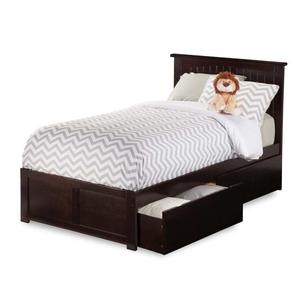 atlantic furniture nantucket espresso brown twin xl platform bed rh pinterest com