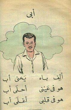 أنشودة أبي تعلمناه صغارا وفهمنا معناها كبارا Learning Arabic Arabic Kids Learn Arabic Alphabet