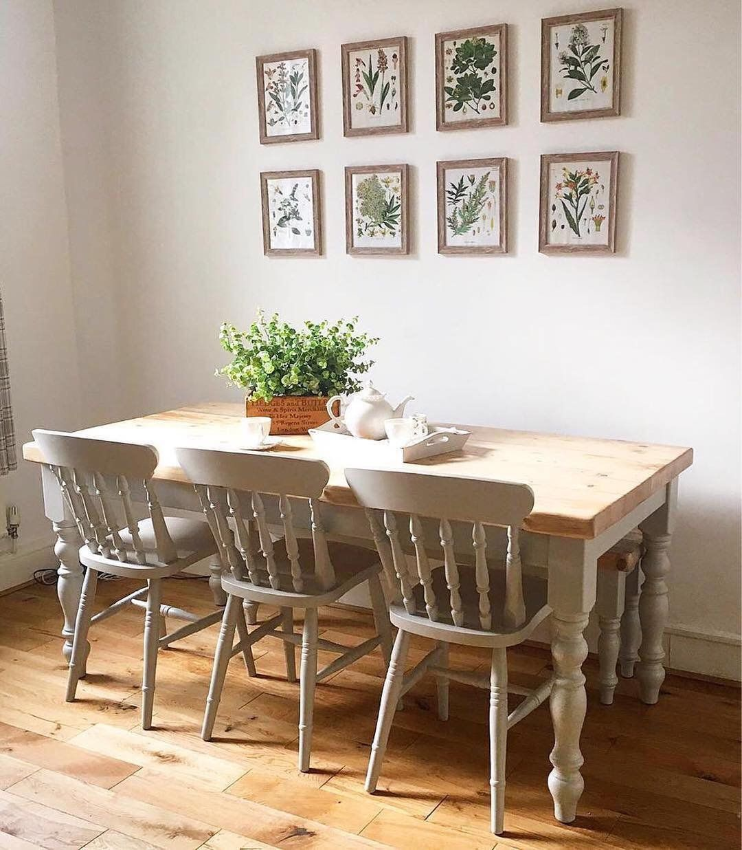 6ft Farmhouse Dining Table With Matching Bench And 3 Chairs Made