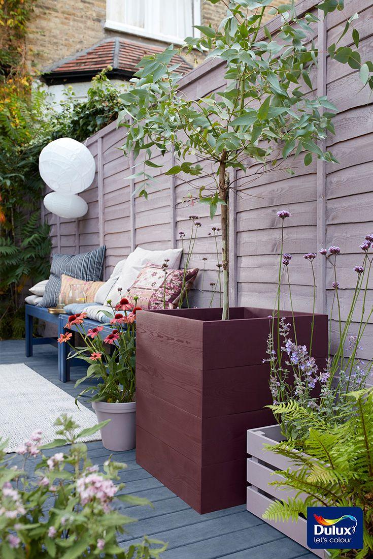 Add Colour To Garden Fences And Planters Using Cuprinol Garden Shades Fence Gardenfence Fencei Garden Fence Paint Cuprinol Garden Shades Small Back Gardens