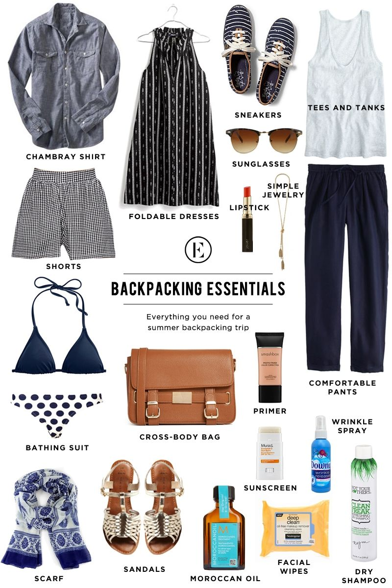 The Ultimate Packing Guide for Backpacking Abroad #theeverygirl #essentials