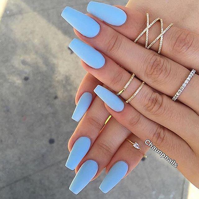 Pinterest Champanamami Long Blue Acrylic Nails Tan